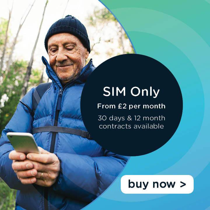 SIM only deals from just £2 per month