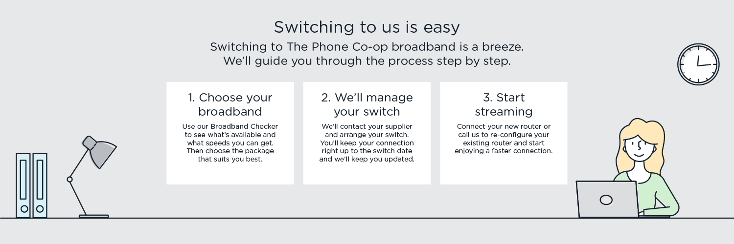 Switching your broadband to us is easy