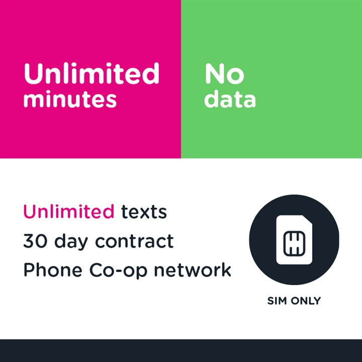SIM only - Unlimited mins and text
