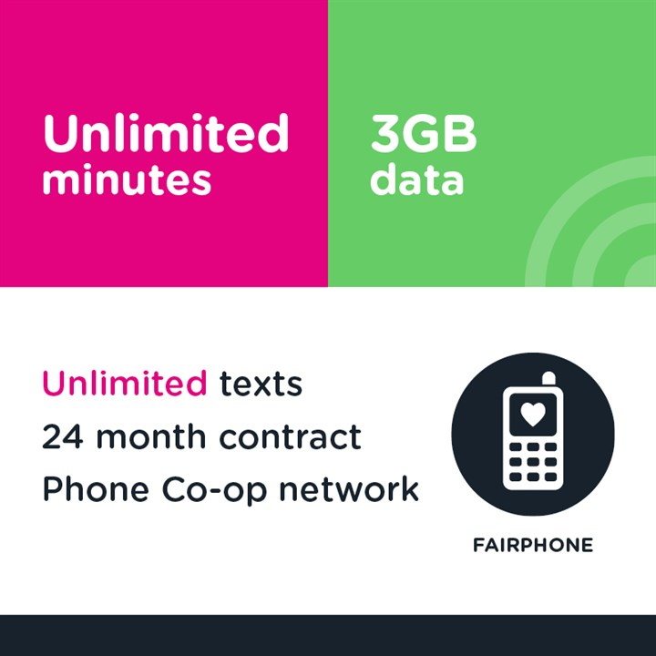 Unlimited minutes, unlimited texts and 3GB (Phone Co-op - EE)