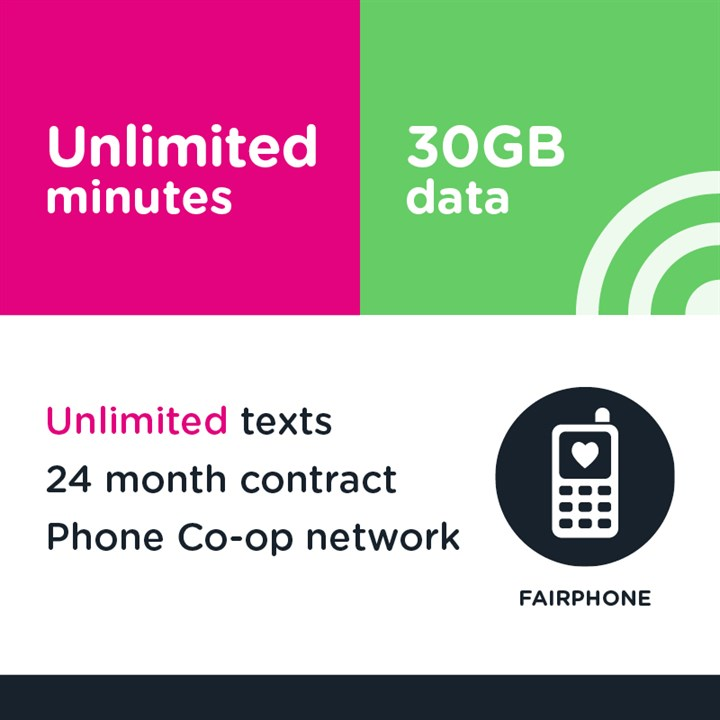 Unlimited minutes, unlimited texts and 30GB (Phone Co-op - EE)