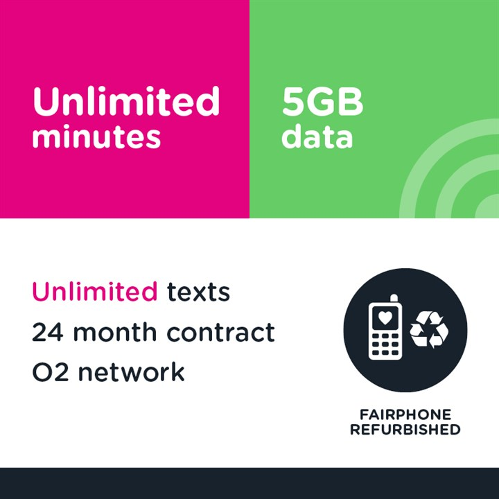 Unlimited minutes, unlimited texts and 5GB (O2)